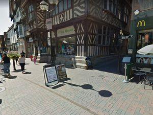 The alleyway near McDonald's, in Greengate Street, Stafford. Photo: Google Maps