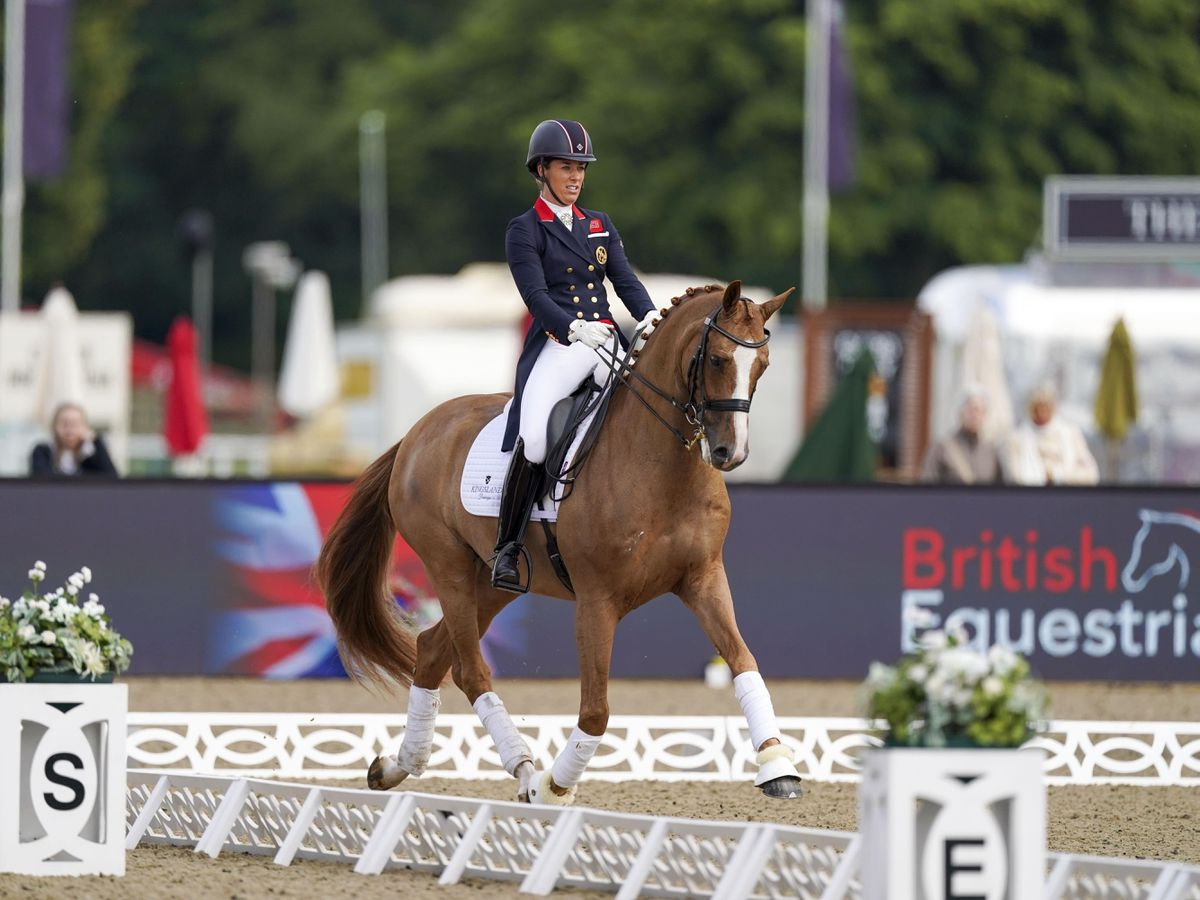 Charlotte Dujardin and her Tokyo Olympics horse Gio