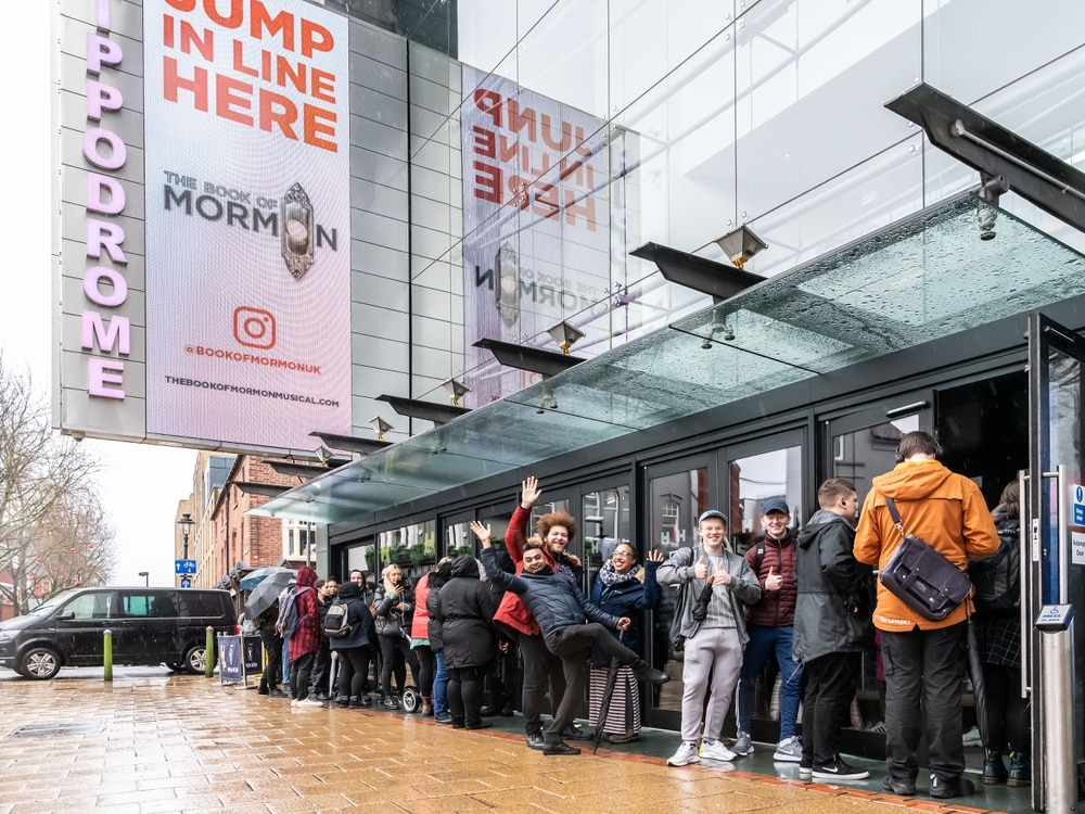 Brummies brave the rain to be first to see Book Of Mormon at Hippodrome - in pictures