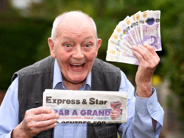 WOLVERHAMPTON COPYRIGHT MNA MEDIA TIM THURSFIELD 02/08/21 .Friday's Gra A Grand winner is John Dunn, from Henwood Road, Compton..