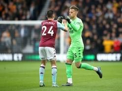 Aston Villa's Orjan Nyland is looking to impress again