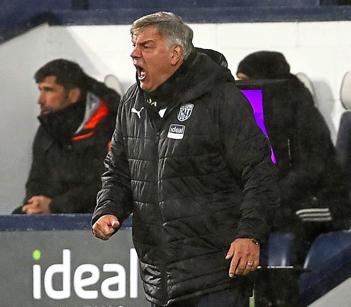 Sam Allardyce head coach / manager of West Bromwich Albion.