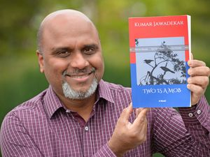 """Kumar Jawadekar is donating all royalties he receives for his new book """"Two is a mob"""" to Katherine House Hospice in Stafford"""