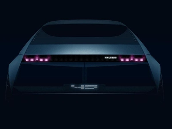 Hyundai teases 1970s-inspired all-electric '45' concept