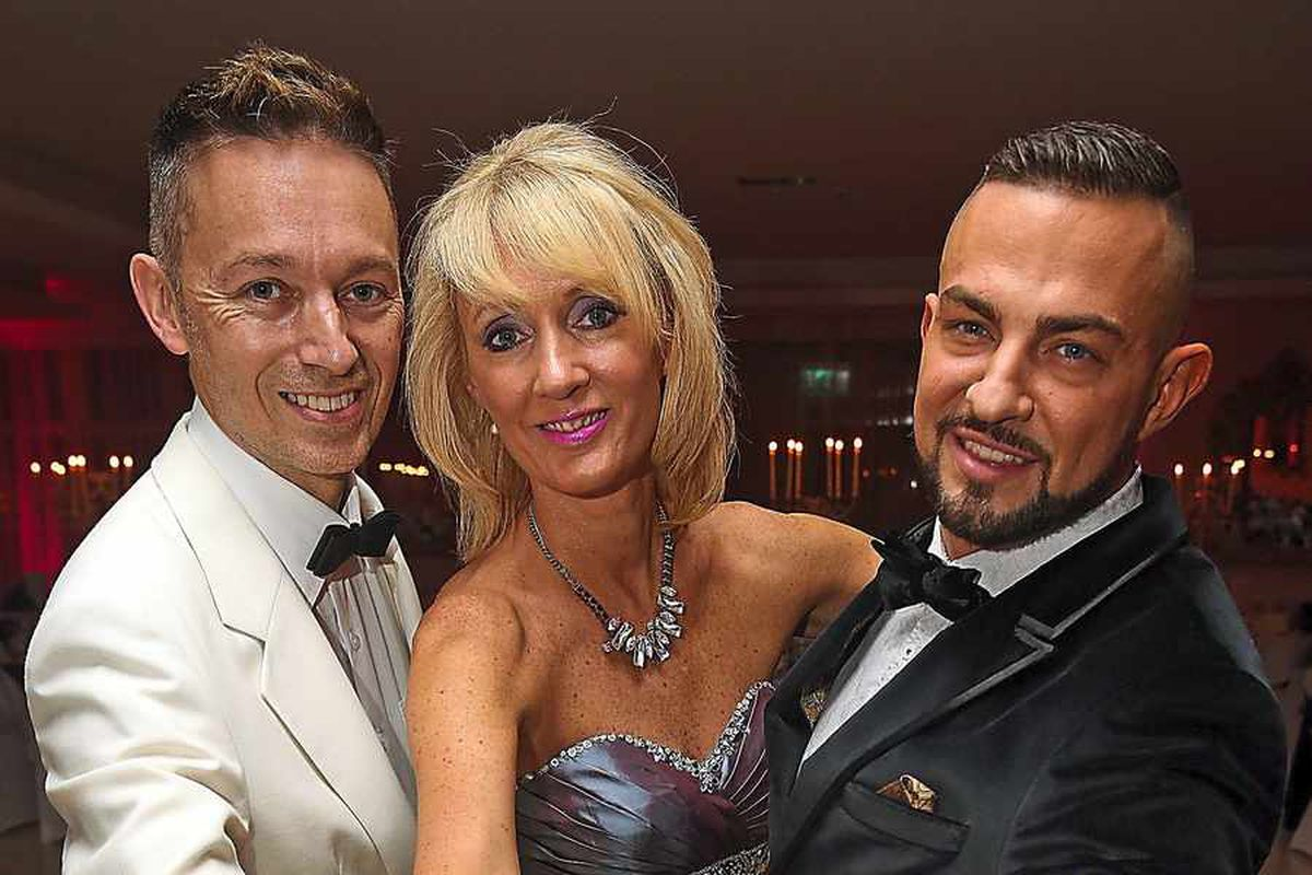 Warren and Jane Bullock with Strictly's Robin Windsor