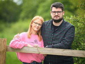 Cannock cancer survivor Amie Gunn is pictured with her fiancé Jacob Fisher.