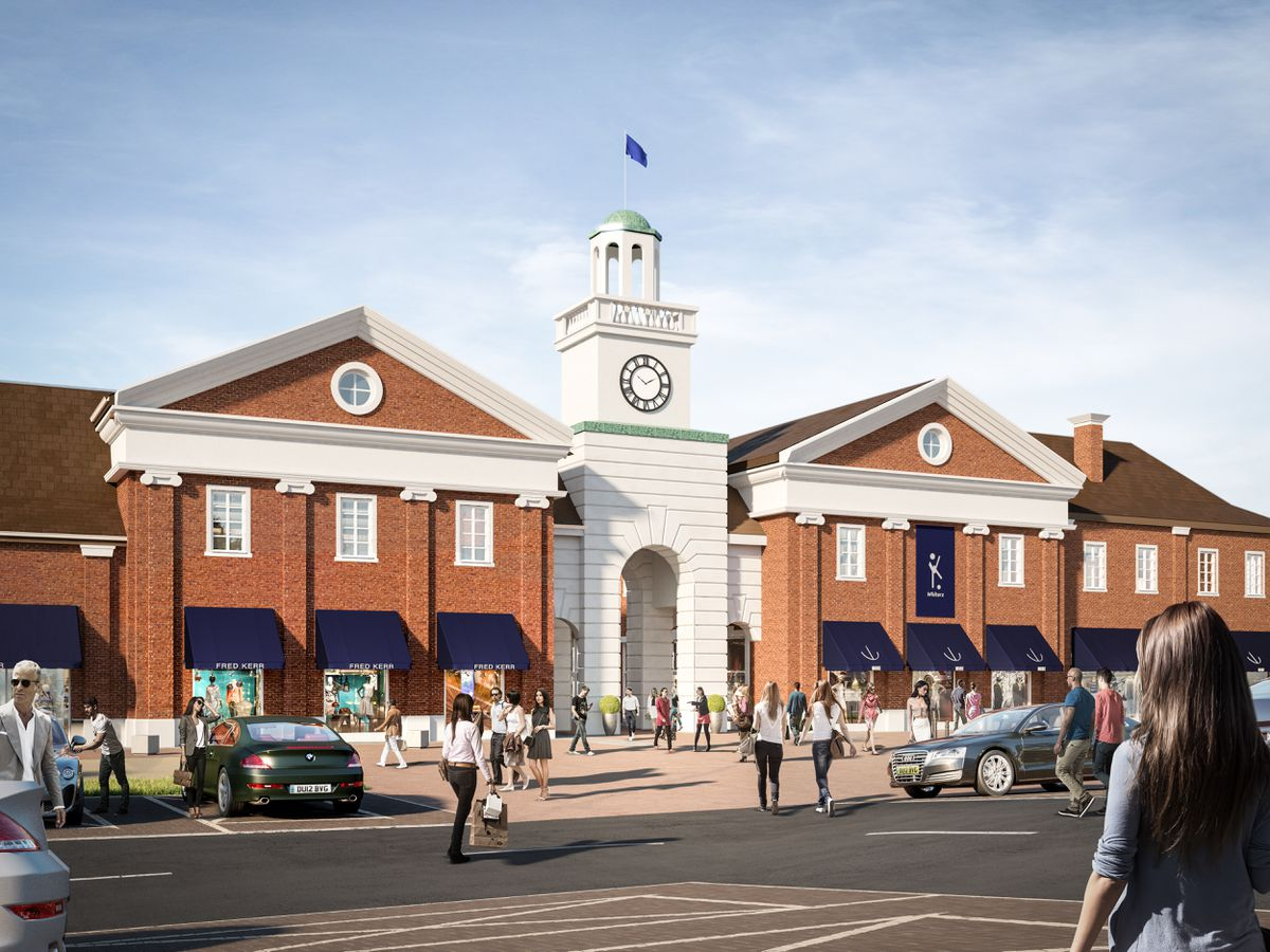 How the designer outlet village would look