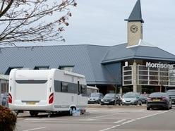 Travellers set up camp on Morrisons car park