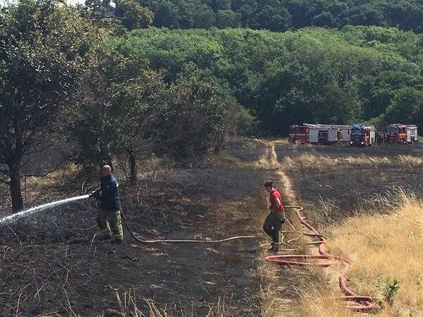 Eight fire crews tackle grassland fire near Stourbridge