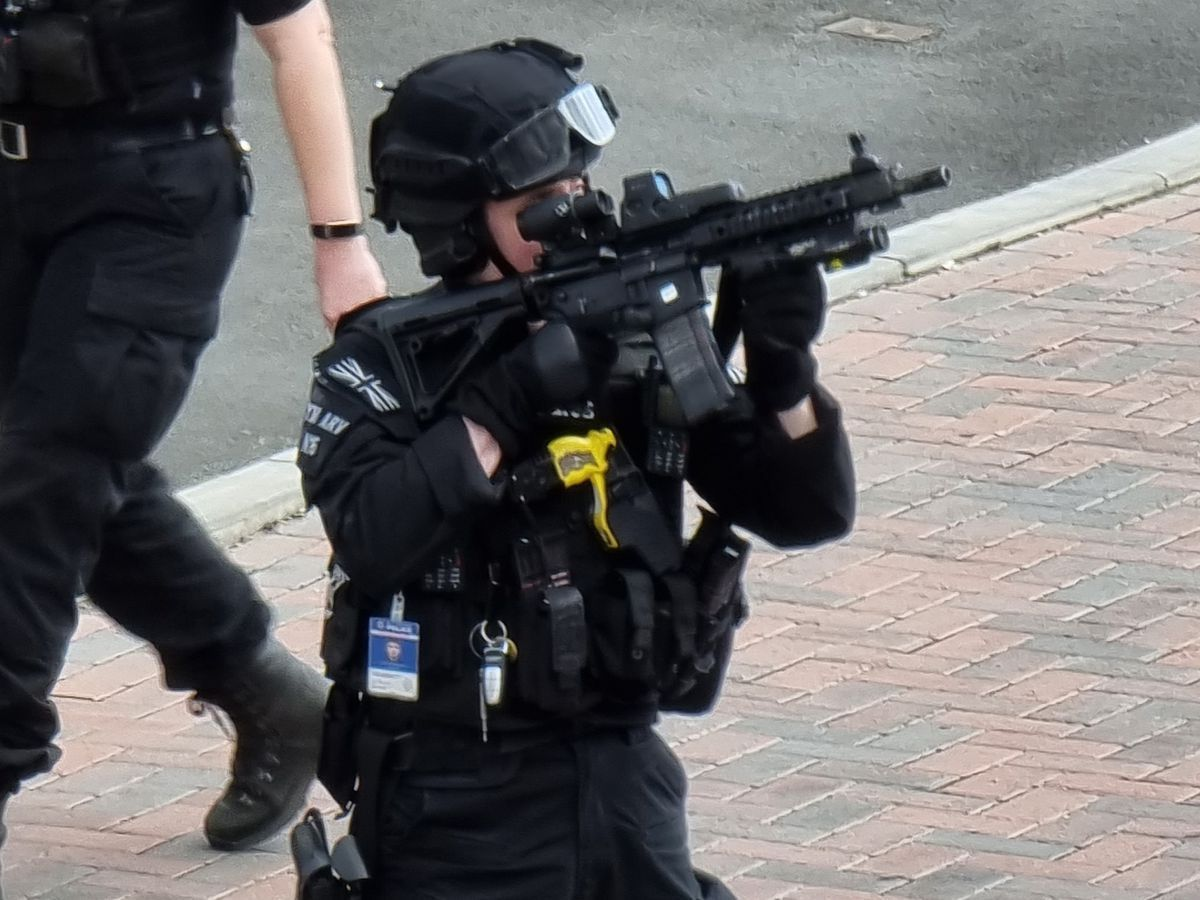 Armed police in Wolverhampton. Photo: Holly Welch.