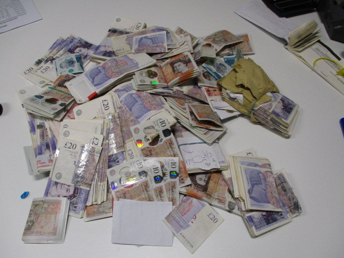 This cash was seized from his house under the Proceeds of Crime Act