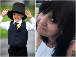 Young Treyden leads procession to remember his nan