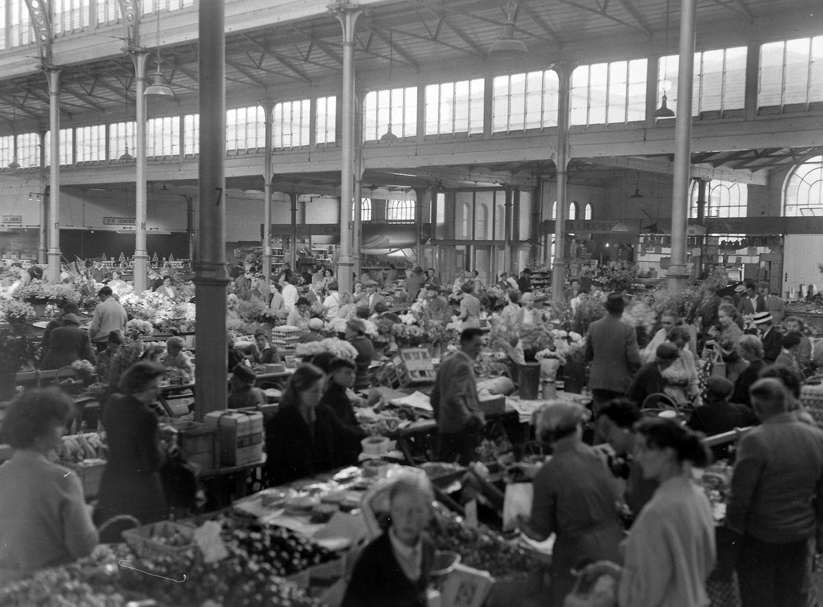 Jean's haunt – a busy scene in the old Victorian market hall. Picture: Bernard Cross.
