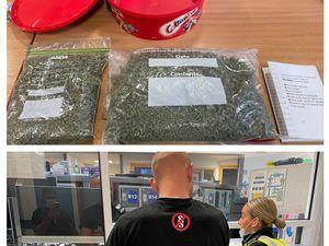 The seized drugs. Photo: Tipton Town Police