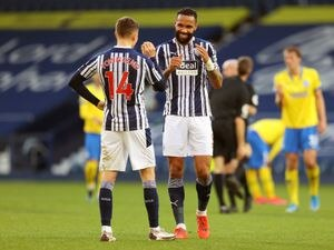 West Bromwich Albion's Kyle Bartley (right) and Conor Townsend (left)