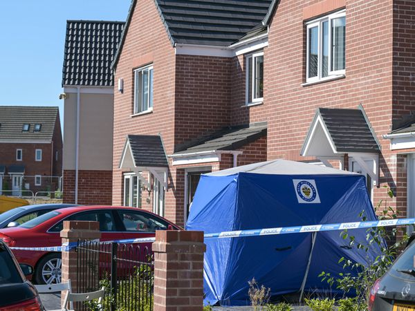 A police tent at Tangmere Road where a 41-year-old woman was killed. Photo: SnapperSK