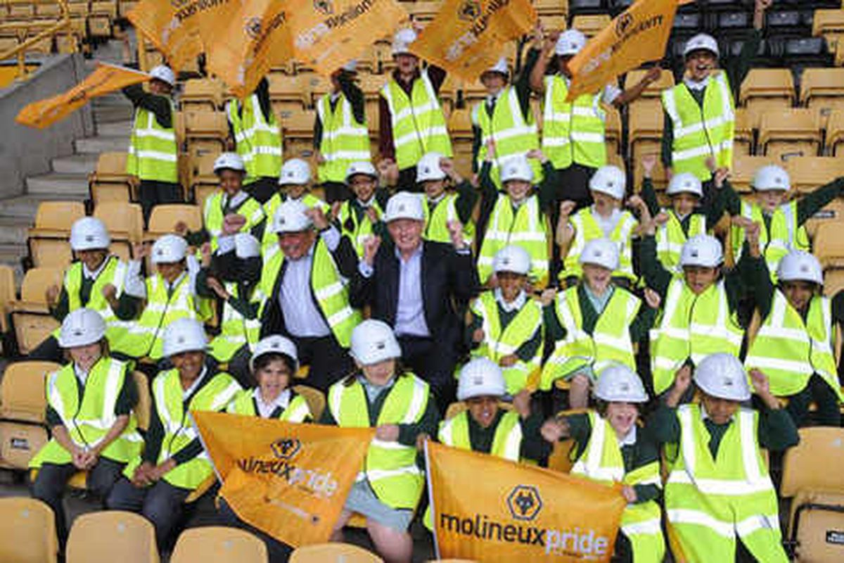 Work at Molineux is moving nearer