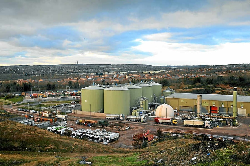 anaerobic digestion power plant in cannock