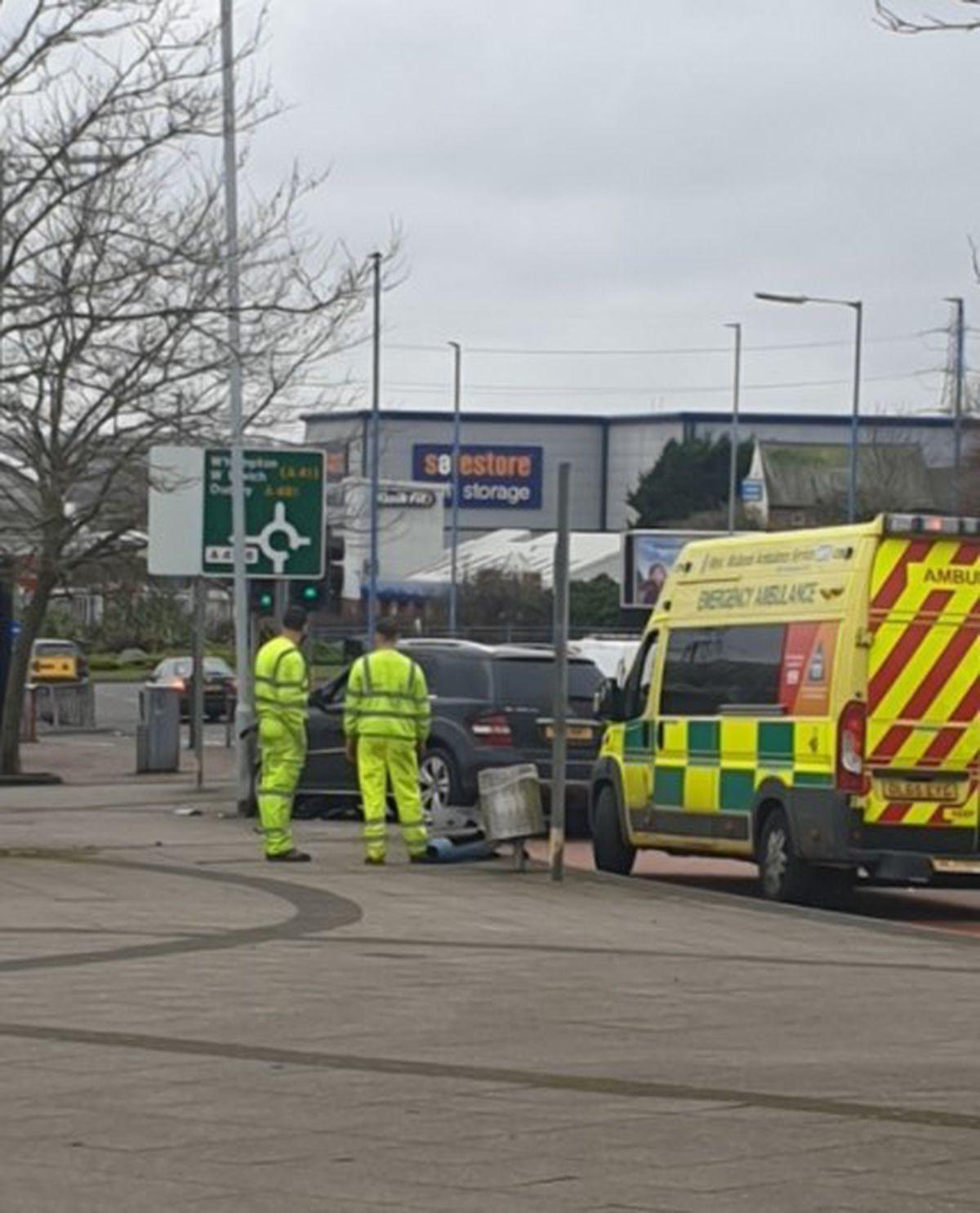 The crash in Wednesbury. Photo: David Wilkes