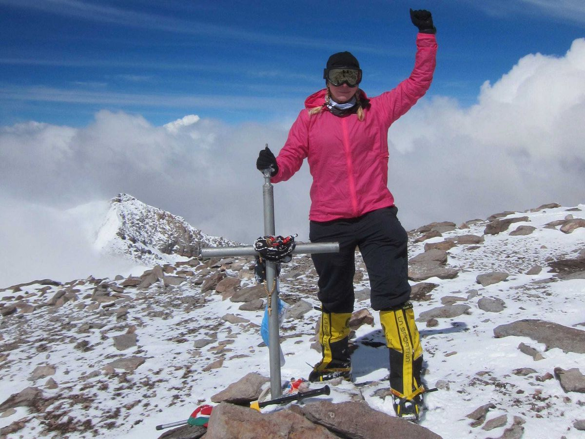 Vanessa O'Brien at the summit of Aconcagua in Argentina  - PXIGMPBXUVC7JGZRSDWEP4E5NM - 'I could never say no to space': British-American explorer aims for the stars