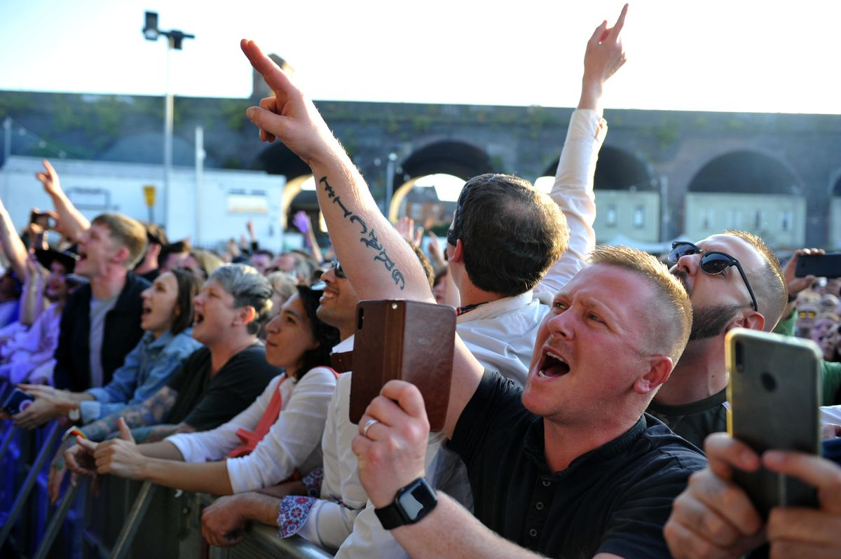 Fans watching Liam Gallagher