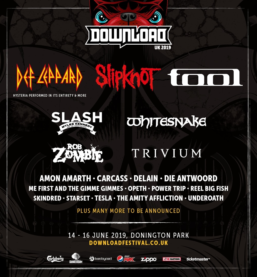 Download Festival 2019: Def Leppard, Slipknot and Tool