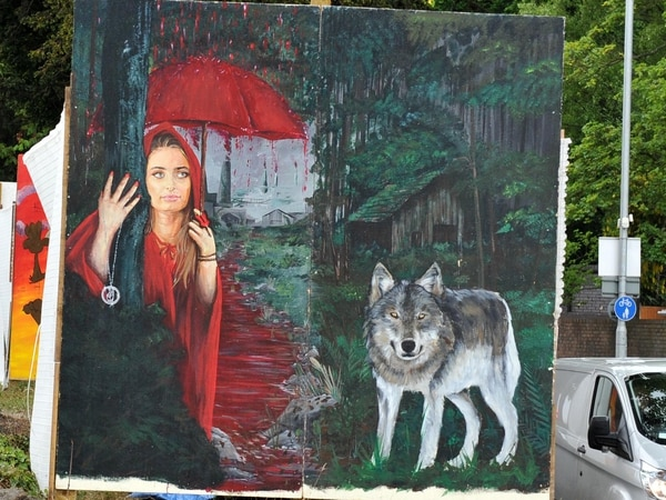 Find out why these wolf murals have appeared along Stafford Road