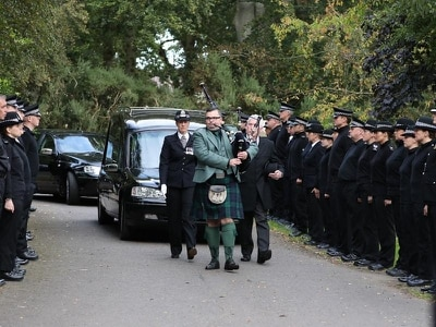 Funeral held for police officer who died on duty