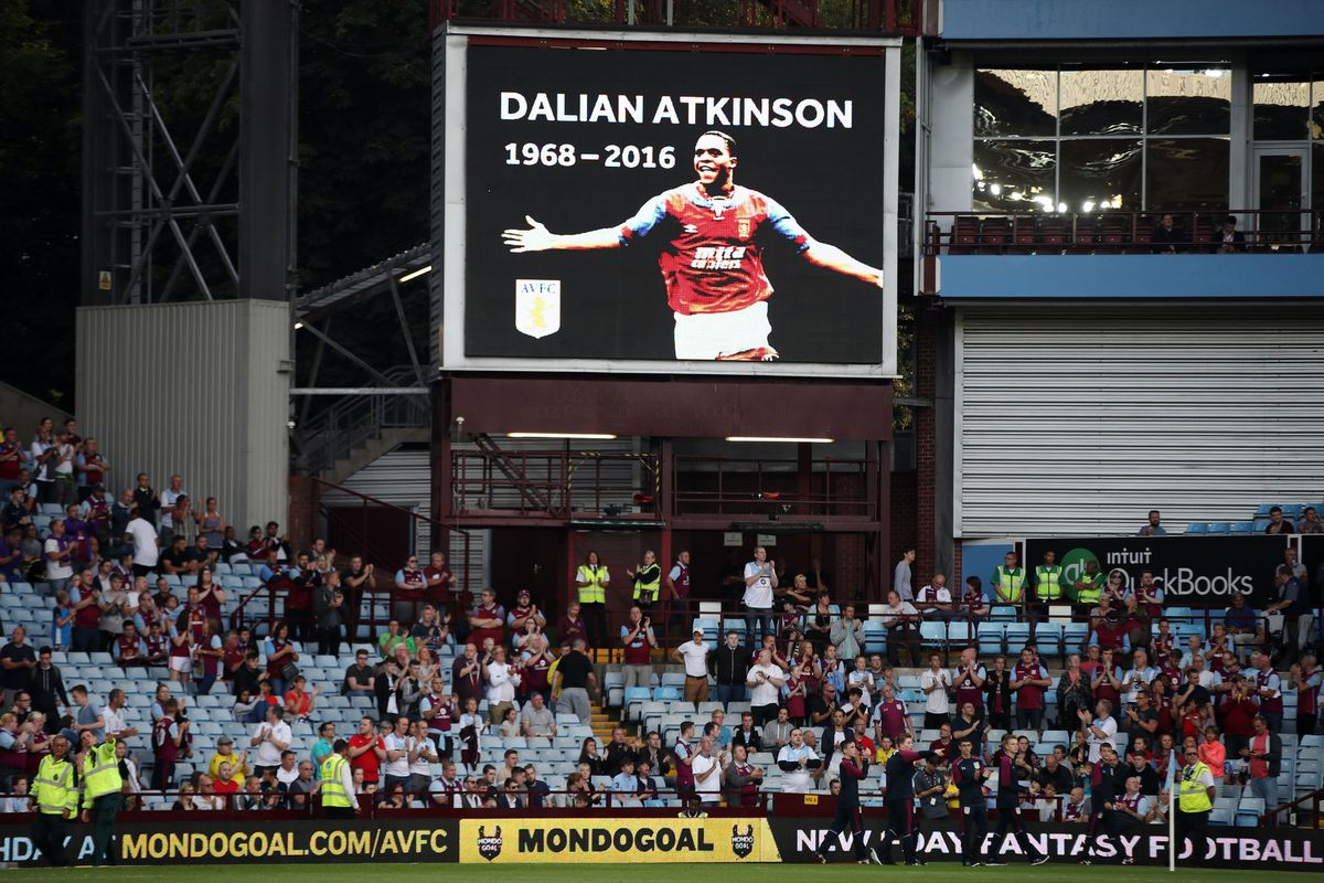 Tributes to Dalian Atkinson at Villa Park after his death