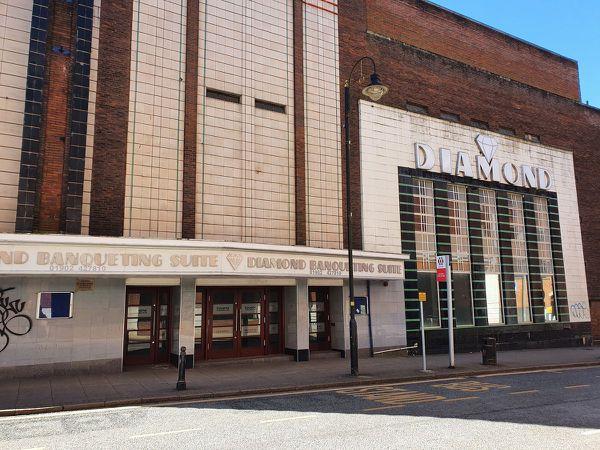 Diamond Banqueting Suite in Wolverhampton city centre, where 700 cannabis plants were found