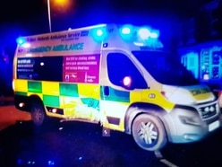 Driver crashes into ambulance, abuses crew and runs away on Christmas Eve