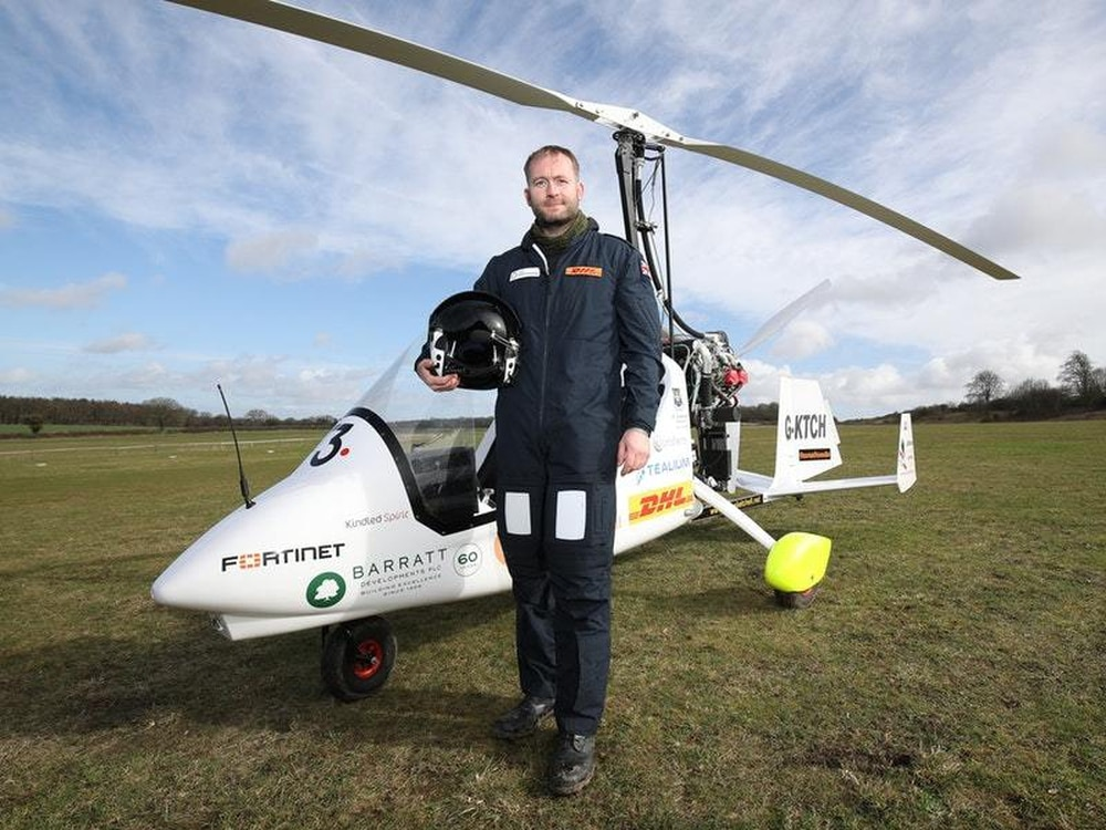 Adventurer plans solo round-the-world gyrocopter record ...