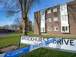 The police cordon at the scene in Brockhurst Drive, Wolverhampton