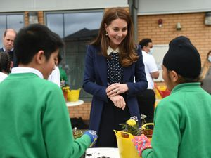 The Duchess of Cambridge during a visit to The Way Youth Zone Photo: Jacob King/PA Wire