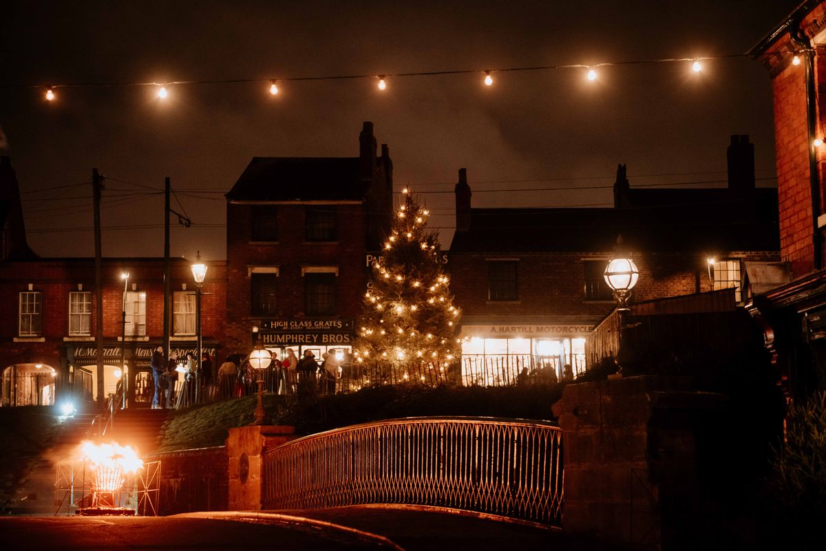 The Black Country Living Museum is lit up