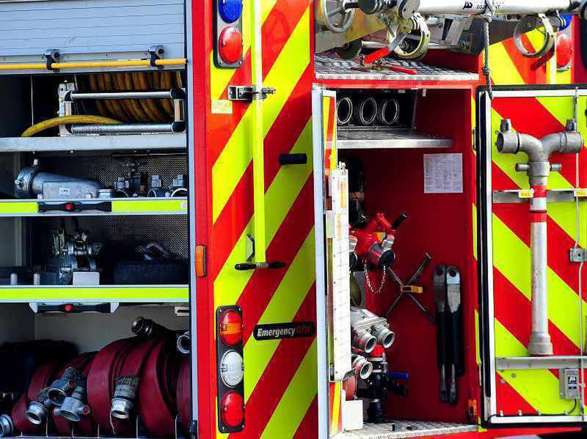 Three appliances and an ALP hydraulic platform were used at the fire in Lichfield