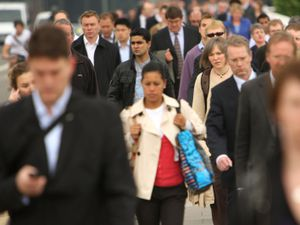 A crowd of people on Waterloo Bridge in central London (Dominic Lipinski/PA)
