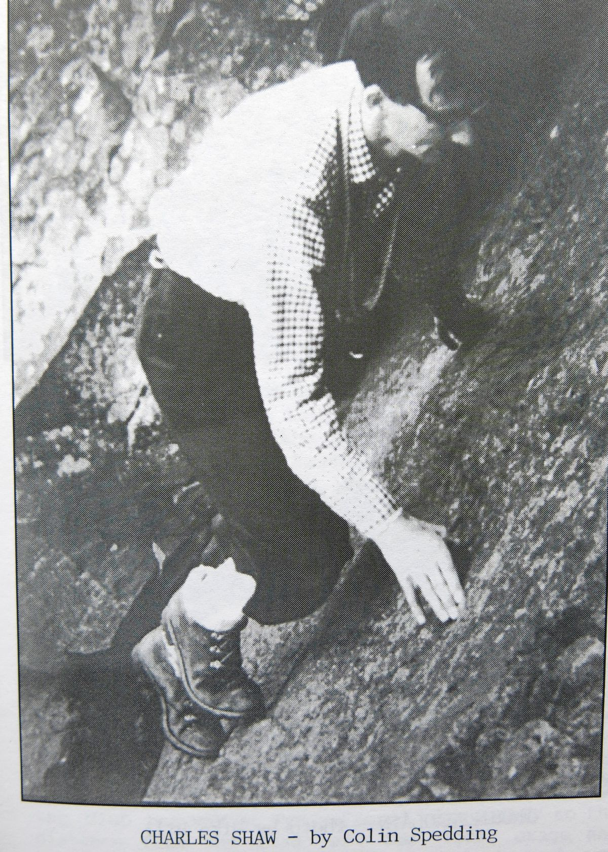 Charles Shaw climbs in the late 1950s