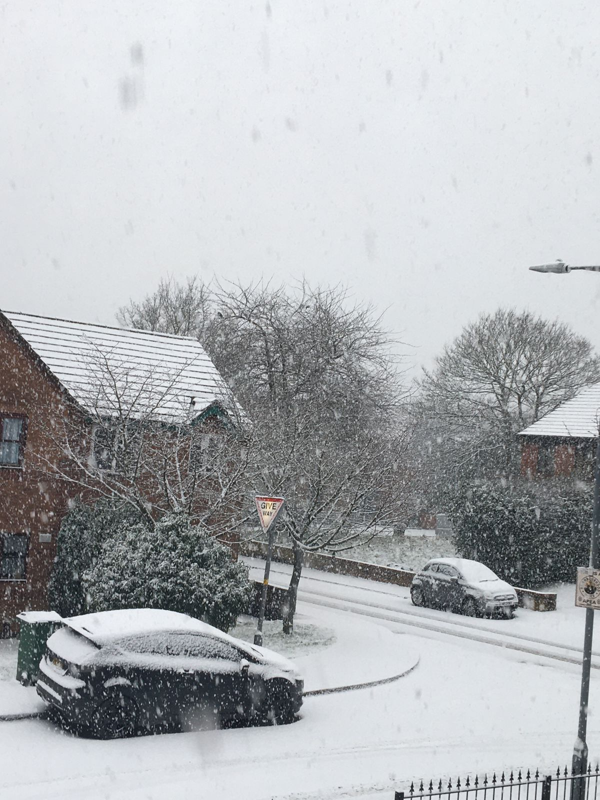 Snow in Tipton. Photo: Jessica Grew