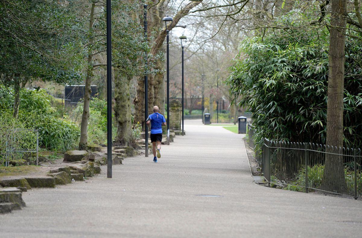 Walsall Arboretum was quiet on Sunday
