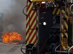 Manhole cover explodes on Walsall street
