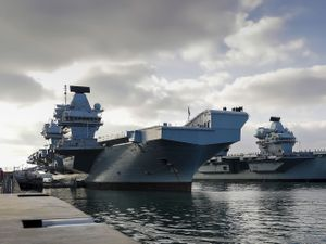 The aircraft carriers HMS Queen Elizabeth and HMS Prince of Wales