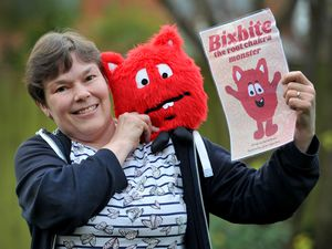 Rachel Brown from Lichfield, who has written a children's book, and created a character called Bixbite, to help children with their emotions
