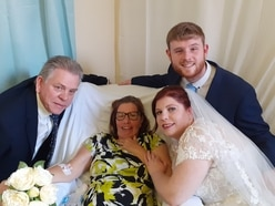 Special ring blessing held on hospital ward for mother with cancer who will miss daughter's wedding