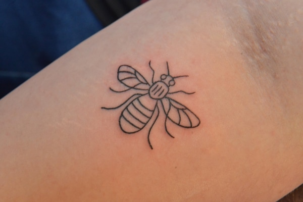 West midlands 39 vivid ink raises thousands with manchester for Bee tattoo manchester