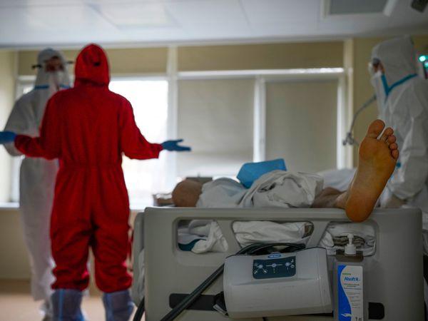 Russian hospital Covid-19 ward