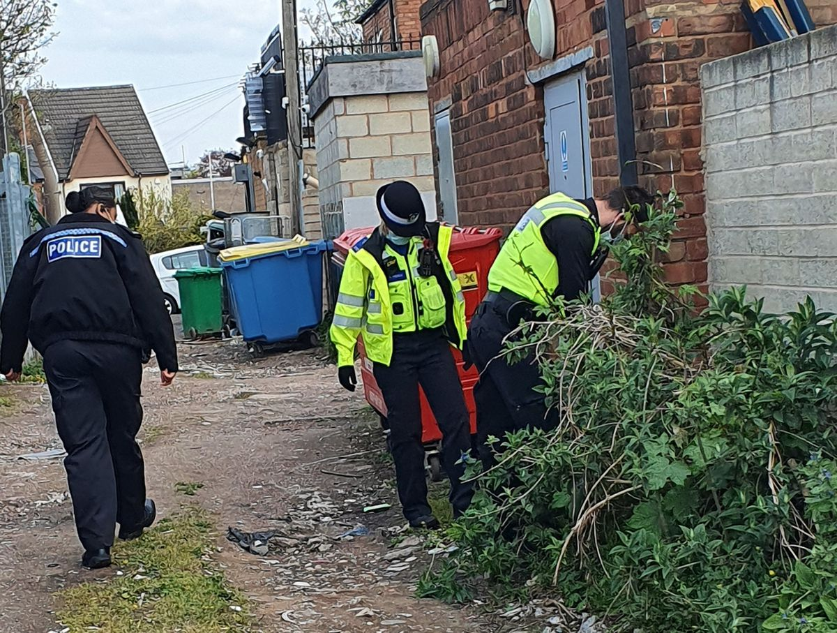 Sutton police take part in a sweep during Operation Sceptre