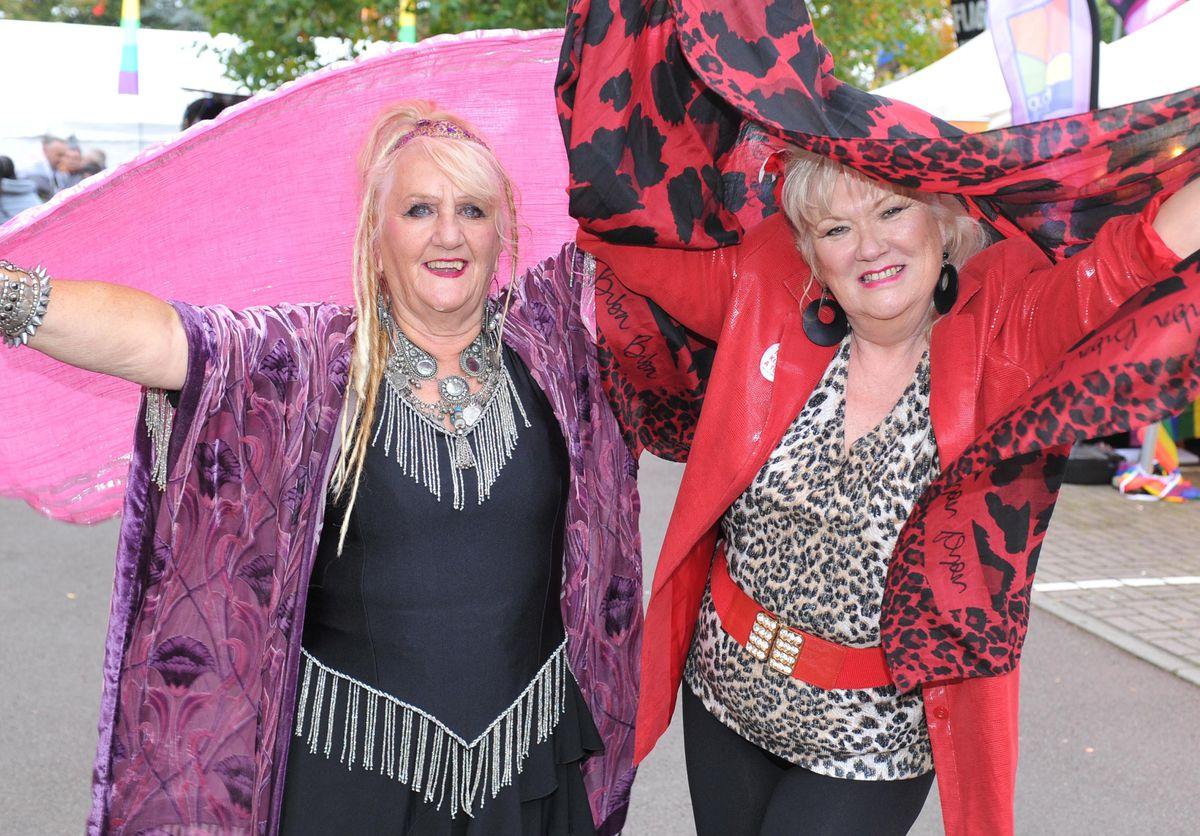 Barbara Wilson and Jean Burkett at Wolverhampton Pride 2019