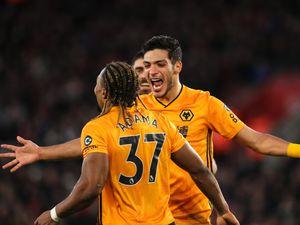 Raul Jimenez of Wolverhampton Wanderers celebrates after scoring a goal to make it 2-3 (AMA)