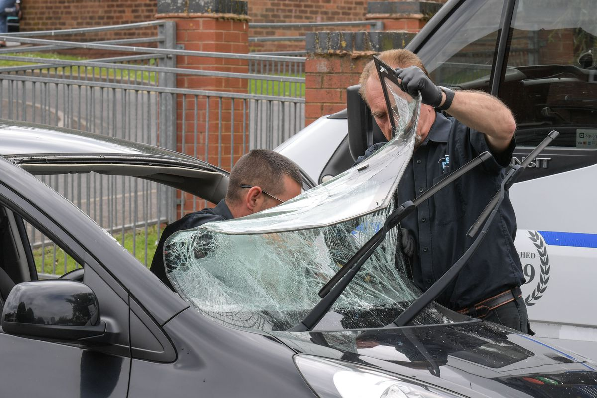 A windscreen being repaired. Photo: SnapperSK
